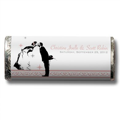 Vintage Hollywood Chocolate Bar Wedding Favor