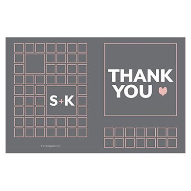 Times Square Wedding Thank You Card