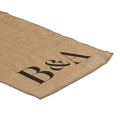 Burlap Table Runner With Equestrian Monogram