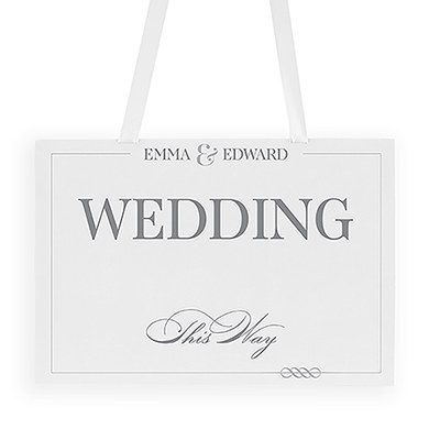 Classic Script Directional Poster Sign
