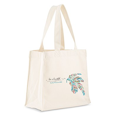 Feather Whimsy Personalized Tote Bag