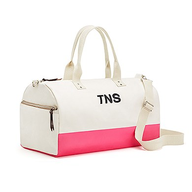 Off We Go Canvas Weekend Bag Pink Candy