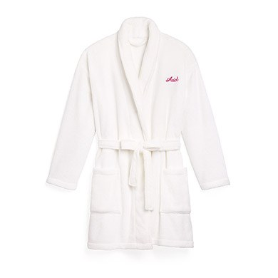 Cozy Fleece Robe White