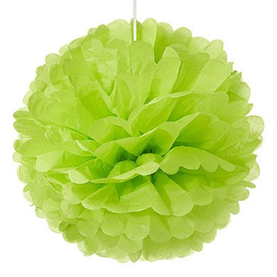 Large Paper Pom Pom Grass Green
