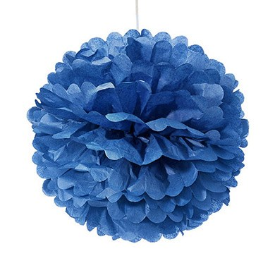 Small Paper Pom Pom Royal Blue