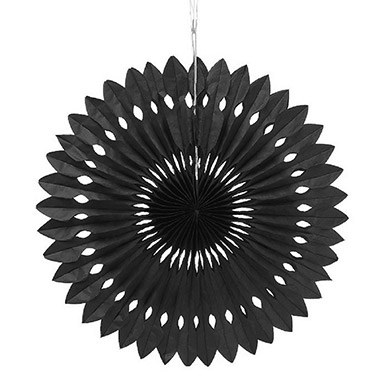 Paper Pinwheel Decor Black