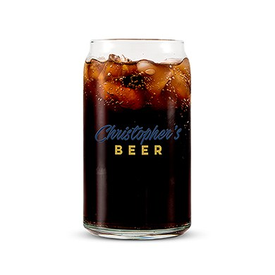 Beer Can Shaped Glass Personalized - Casual Printing