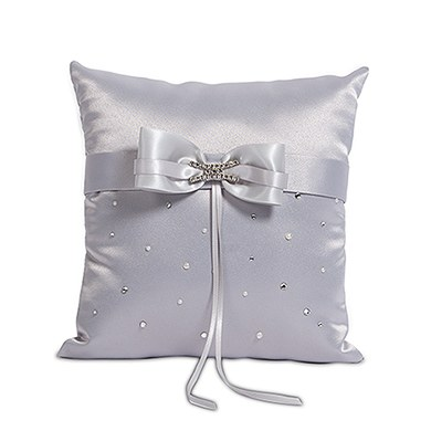 Ceremony Accessory Ring Pillow in Platinum