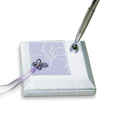 Butterfly Dreams Satin Wrapped Wedding Reception Pen Set