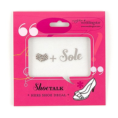 Heart and Sole Shoe Talk Decals for Shoes