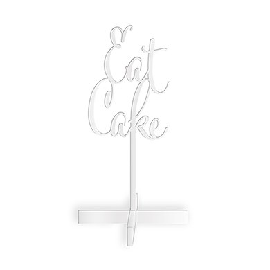Eat Cake Acrylic Sign   White