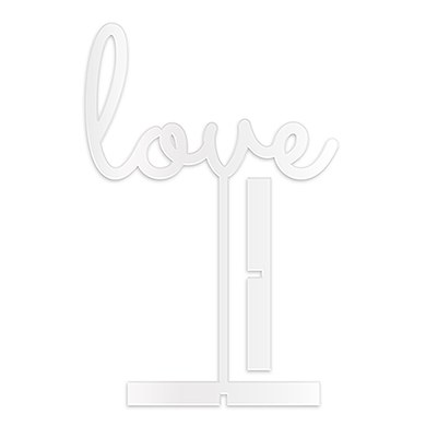Love Acrylic Sign   White