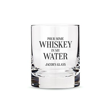 Classic Rocks Glass - Whiskey in My Water Printing