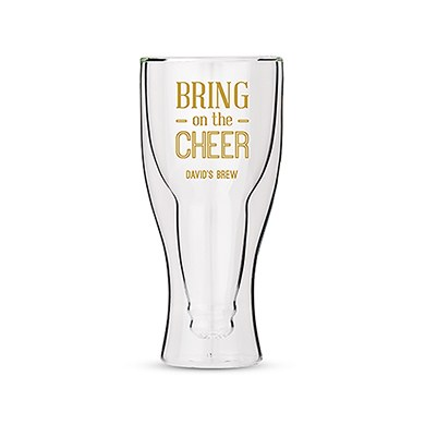 Double Walled Beer Glass - Bring on the Cheer Printing