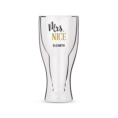 Double Walled Beer Glass - Mrs. Nice Printing