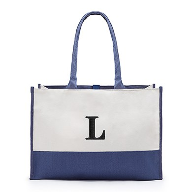 Colorblock Tote Denim