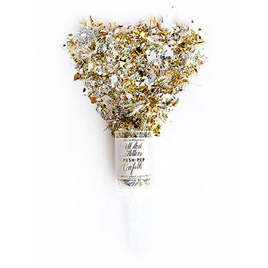 Push-Pop Confetti - Metallic Gold & Silver