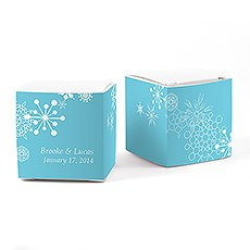 Winter Finery Cube Favor Box Wrap
