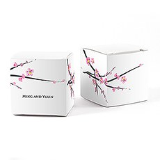 Cherry Blossom Cube Favor Box Wrap