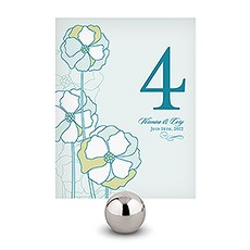 Pinwheel Poppy Table Number