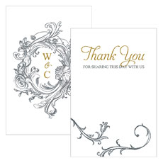 Antique Chic Large Rectangular Card