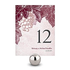 A Wine Romance Table Number