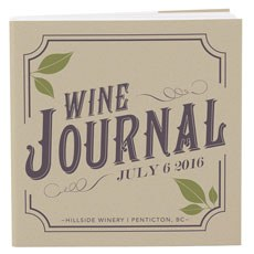Vineyard Personalized Book Style Notepad