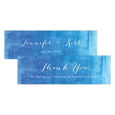 Aqueous Small Rectangular Favor Tag