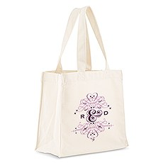 Fanciful Monogram Personalized Tote Bag