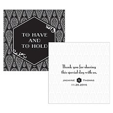 Black and Gold Opulence Square Tag