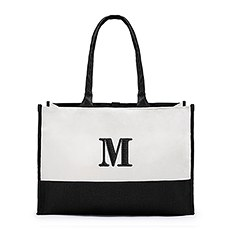 Colorblock Tote - Black
