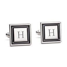 Black Border Cuff Links