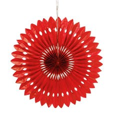 Paper Pinwheel Decor - Red