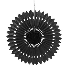 Paper Pinwheel Decor - Black