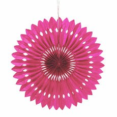 Paper Pinwheel Decor - Hot Pink