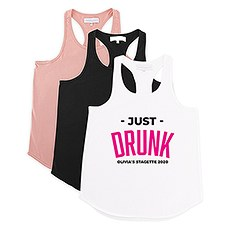 Personalized Bridal Party Wedding Tank Top - Just Drunk