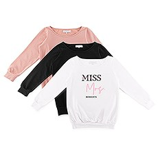 Personalized Bridal Party Wedding Sweatshirt - Miss to Mrs