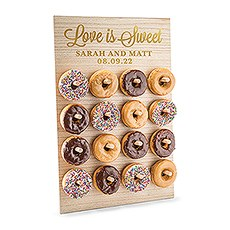 Personalized Wooden Donut Wall Display - Love is Sweet