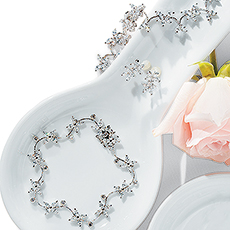 Cubic Zirconia Clusters in Silver Jewelry