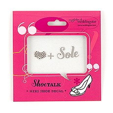 "Heart + Sole ""Shoe Talk"" Stick on Decals for Shoes"