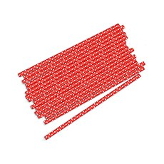 """""""Sippers"""" Small White Polka Dot Paper Straws (75)"""