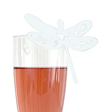 Laser Expressions Dragonfly Die Cut Card - White