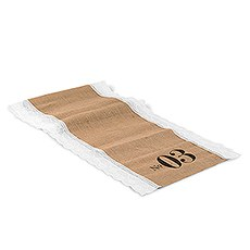 Table Number Personalized Burlap And Lace Table Runner