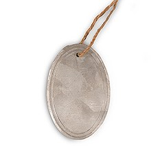 Oval Tin Tags with Jute Hangers