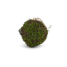 Faux Moss and Wicker Pomander