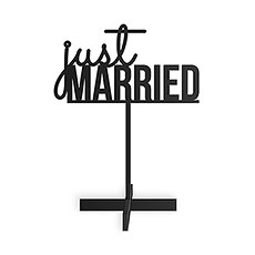 Just Married Acrylic Sign - Black