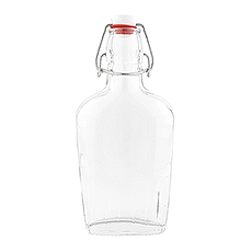 Vintage Inspired Clear Glass Hip Flask