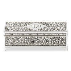 Personalized Silver Jewelry Box
