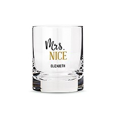 Personalized Whiskey Glasses with Mrs. Nice Print