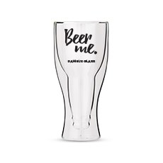Personalized Double Walled Beer Glass Beer Me Print